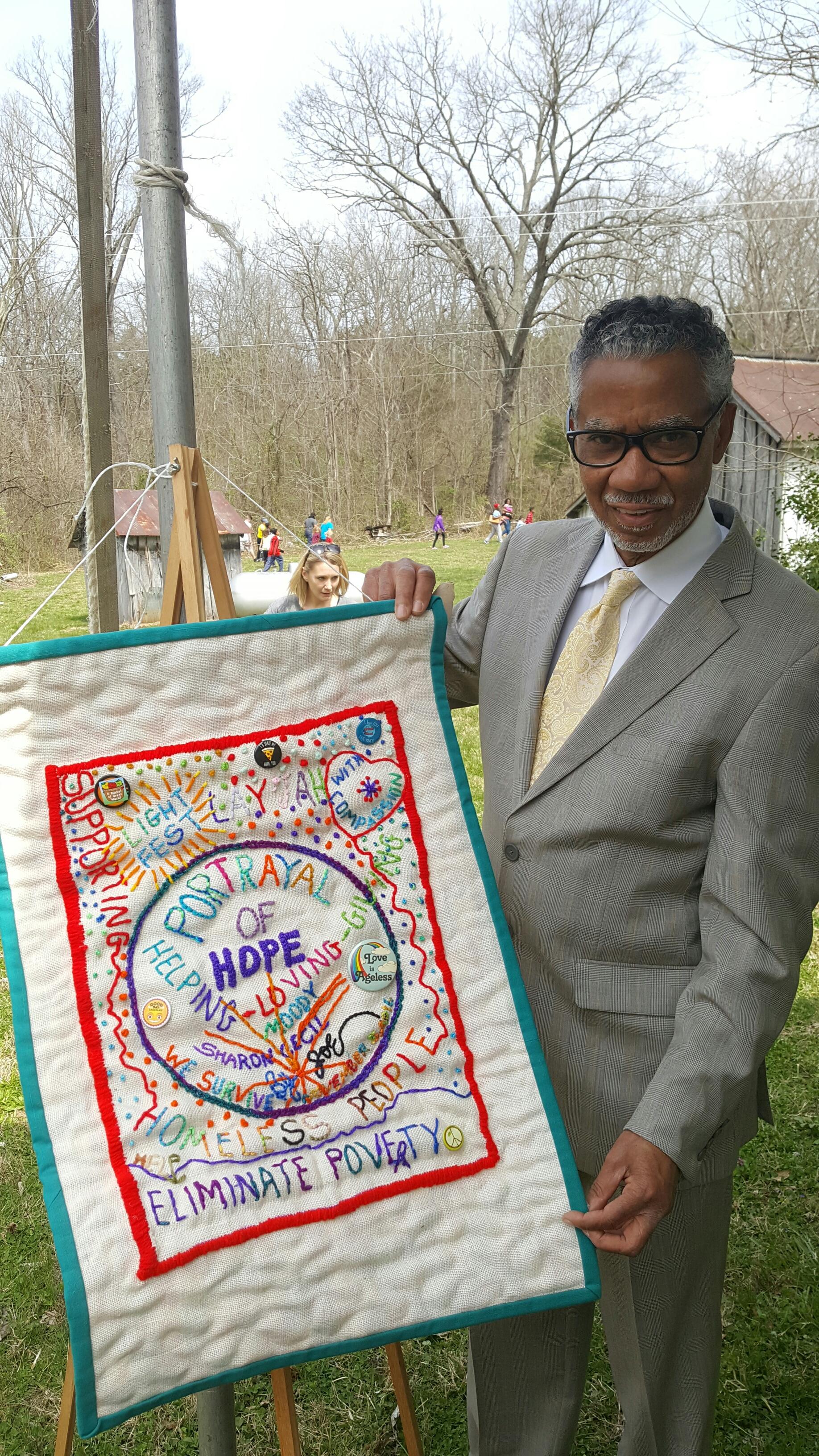 Sunshine Joe with LightFEST 2016 Tapestry